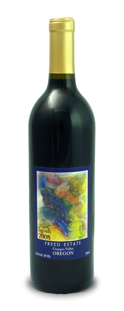 syrah wine bottle freed estate winery